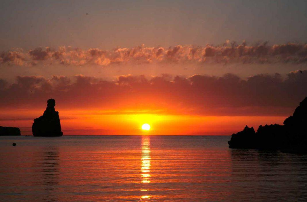 Una de las mejores puestas de sol de Ibiza.