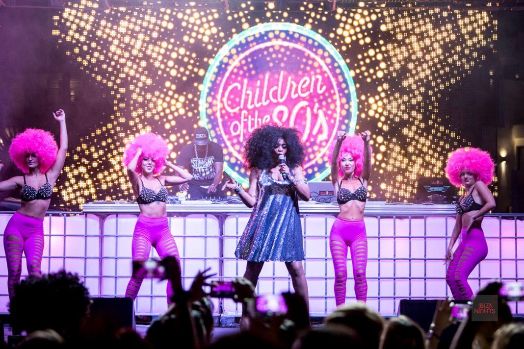 Hard Rock Barbara Tucker Children of the 80s. Uno de los momentos más esperados de la fiesta.