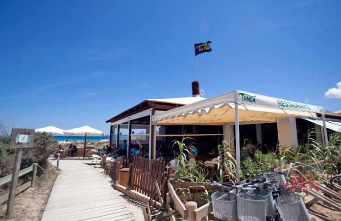 El restaurante Tanga está situado en un lugar privilegiado.