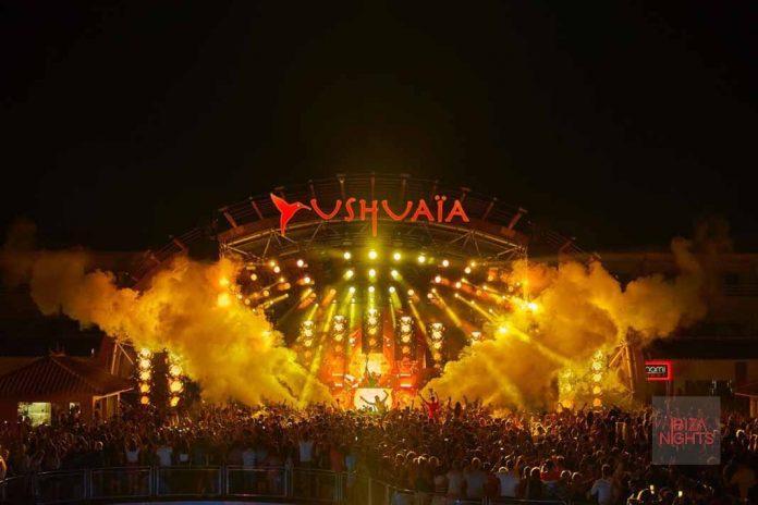 El fin del mundo parece estar está cerca gracias al sonido del dj. Foto: Ushuaïa Ibiza