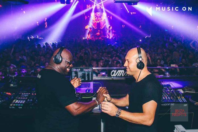 Foto de la pasada temporada durante el reencuentro con Marco Carola en Music On. Fotos: Amnesia Ibiza