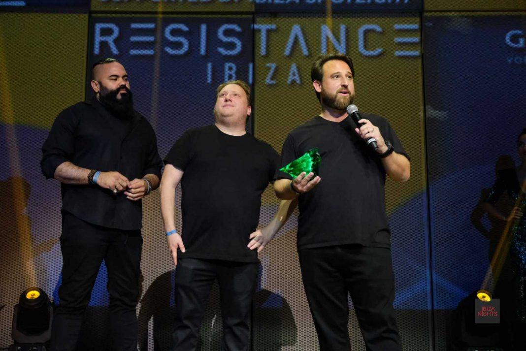 El equipo de Resistence recibe el premio de los Dj Awards. Foto: Sergio G.Cañizares