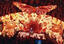 La mariposa en llamas presente durante todo el verano. Fotos: Ushuaïa Ibiza
