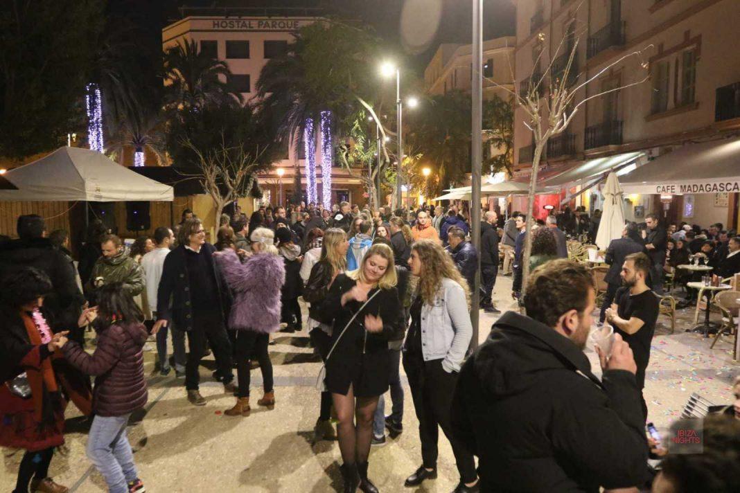 La Plaza del Parque durante la fiesta de Nochevieja del año pasado. Foto: Vicent Mari