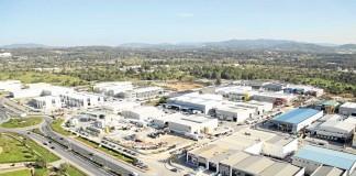 Vista panorámica reciente de la zona industrial de Montecristo, la mayor de las Pitiusas.   A.A.