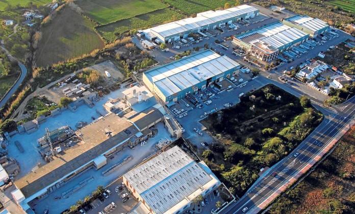 Vista aérea de la zona Industrial Ca na Palava.
