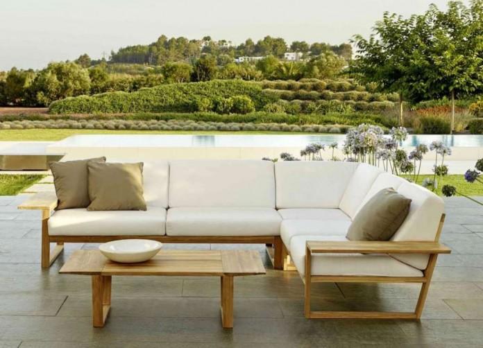 Un conjunto de muebles de exterior para su jardín.