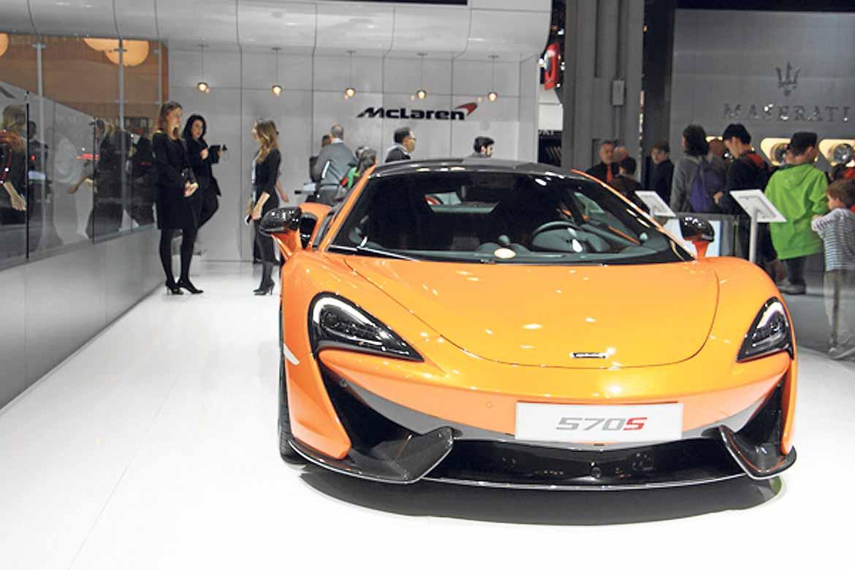 El nuevo McLaren causó sensación.