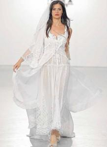 Piluca Bayarri, fiel a sus estilo algodón cien por cien.