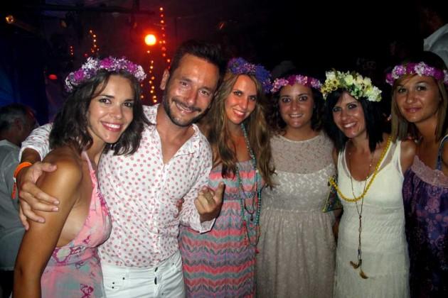 Ana Durán, el alcalde de Ibiza, Rafa Ruiz y amigas.