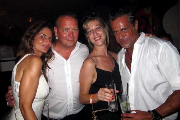 Chiara Fiorentino, Enrico Barbieri, Susana y Edoardo.