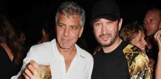 El astro de Hollywood George Clooney junto a Eric Prydz. DI