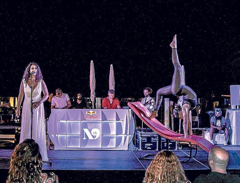 Música, danza y diversión en la azotea de The Ninth.