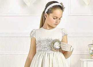 Elegantes vestidos de Comunión.