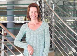 Kristiina Pylkäs posa en la sede del Diario de Ibiza. RUBÉN E. IBAÑEZ