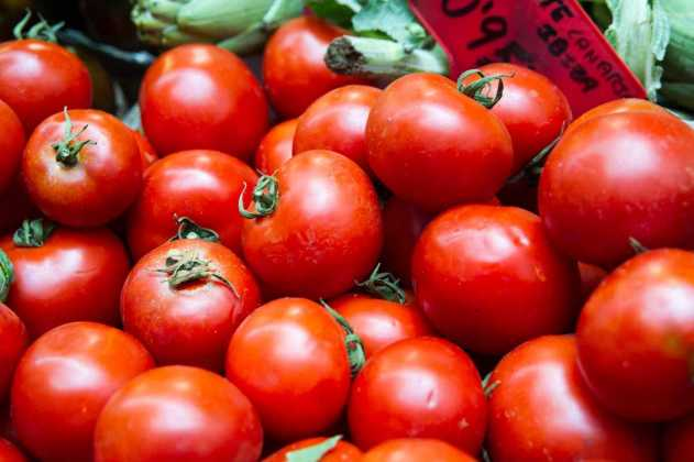 Tomates cogidos del invernadero. SERGIO G. CAÑIZARES