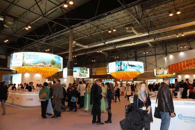 Amplio espacio para la exposición de la Comunidad Valenciana.