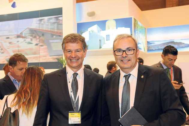 Xicu Costa Ferrer con Vicent Torres.
