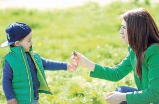 El lenguaje corporal, esencial para la relación con los pequeños.
