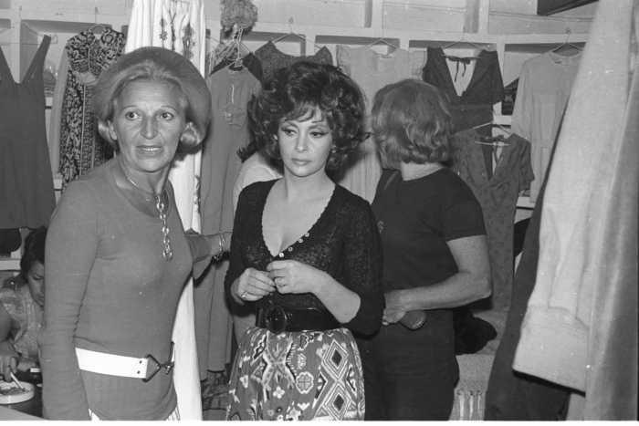 Smilja y Gina Lollobrígida.