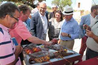 Vicent Torres en la presentación de productos con el sello 'Sabors d'Eivissa'
