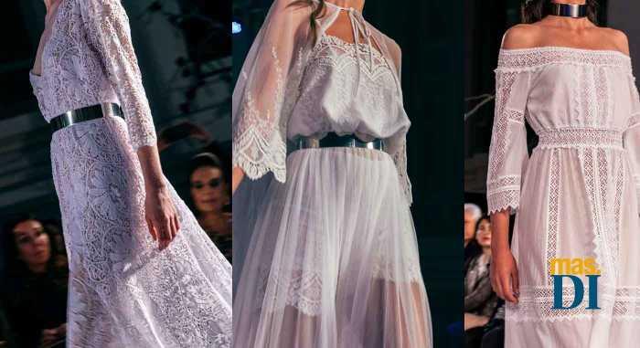Tres modelos de la última colección de novias.
