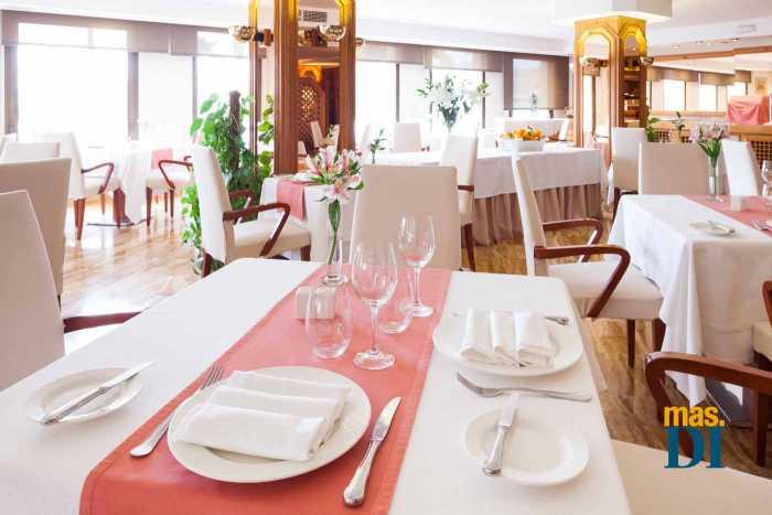 El gran salón, ideal para celebrar banquetes.