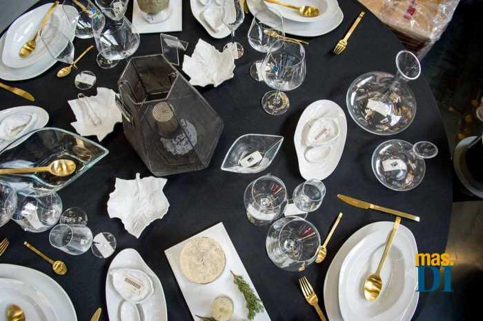La decoración de la mesa es el centro de todas las miradas
