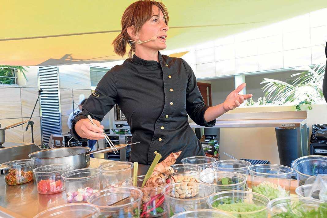 Begoña Rodrigo en su intervención en el Foro de Gastronomía del Mediterráneo.