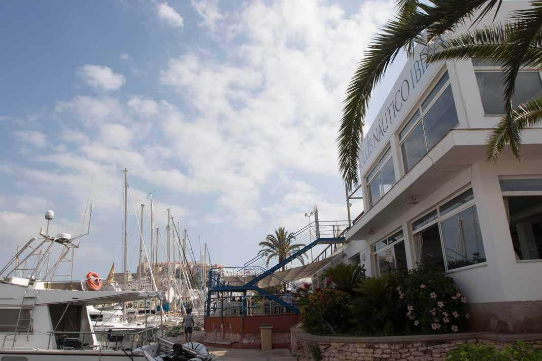 Club Náutico de Ibiza. Instalaciones actuales del club, que se remodelarán en breve.