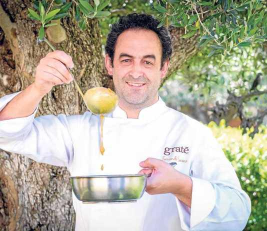 Fernando Sáenz chef helado, en su paso por el Foro de gastronomía del Mediterráneo de Ibiza.