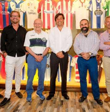 Abel Matutes Juan, Sergio Zertuche, presentaron el acuerdo junto a los representantes de Laliga de fútbol.