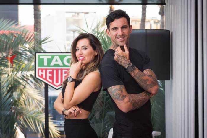 Tag Heuer. El 'day trider' Josef Ajram y su mujer Sulaika.