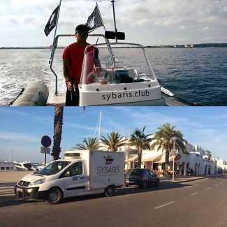 Can Parejo-Formentera. 'Sybaris' a pie de yate
