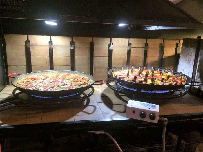 Las paellas son el plato estrella de La Barraca.