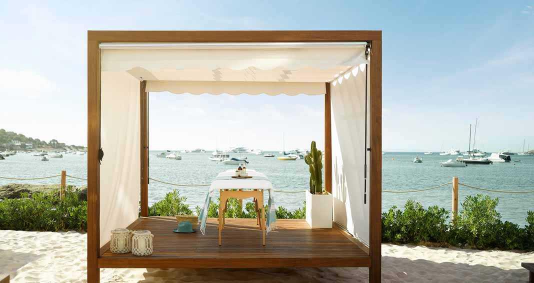 Desde aquí se puede disfrutar de un masaje relajante con vistas al mar. Foto: Nobu Hotel Ibiza Bay.