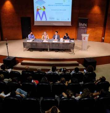 Millennials. De izquierda a derecha Óscar Cabo, José María Álvarez Monzoncillo, Gabriel Suñer y Jimena L. Ansótegui en la apertura de la Conferencia.