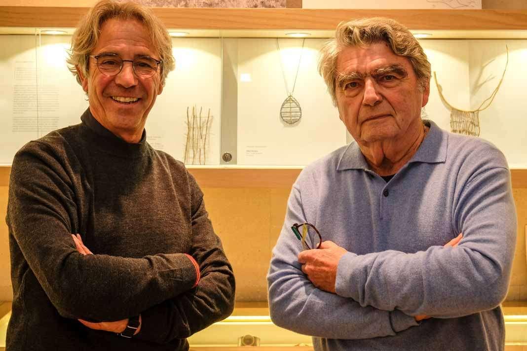 Enric Majoral y Gilbert Herreyns en la presentación que tuvo lugar en la tienda Majoral deibiza. Sergio G. Cañizares