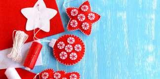 El fieltro permite creaciones únicas de adornos de Navidad
