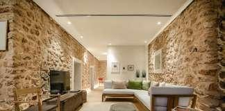 El objetivo era ecuperar la esencia de las viviendas ibicencas de los años 40-50, donde la piedra es la protagonista.