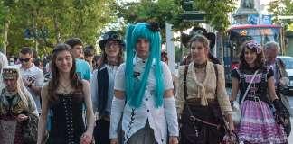 Una joven vestida con indumentaria 'cosplay' en Tokyo. Cosplay