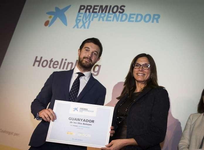 Hotelink, ganadora de los Premios EmprendedorXXI, el galardón de referencia para 'startups' de España. fotos: caixabank Premios EmprendedorXXI