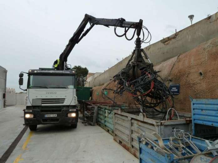 La compañía prioriza el reciclaje y la valoración de los residuos generados. fotos: Endesa gestión de residuos en baleares