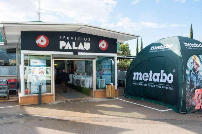 La carpa de Metabo en Servicios Palau. fotos: S.g.c.