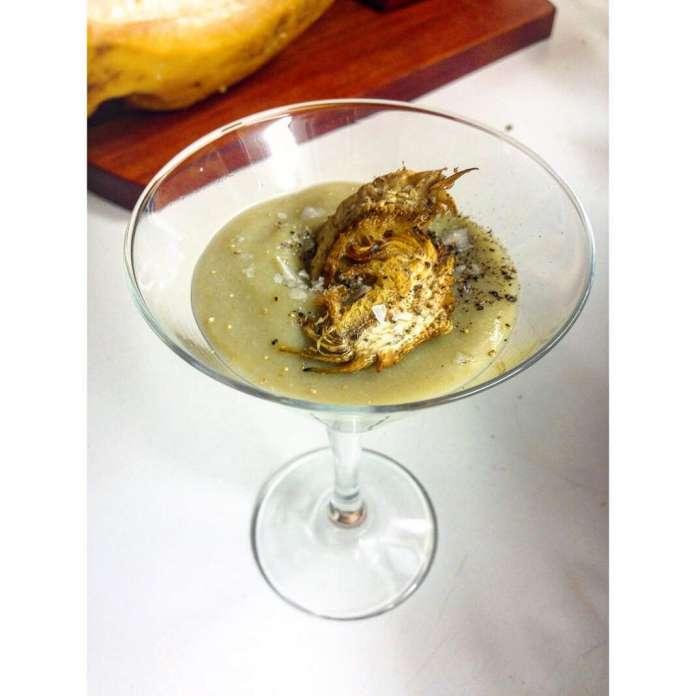 Crema de alcachofas. Foto: puredepalabras