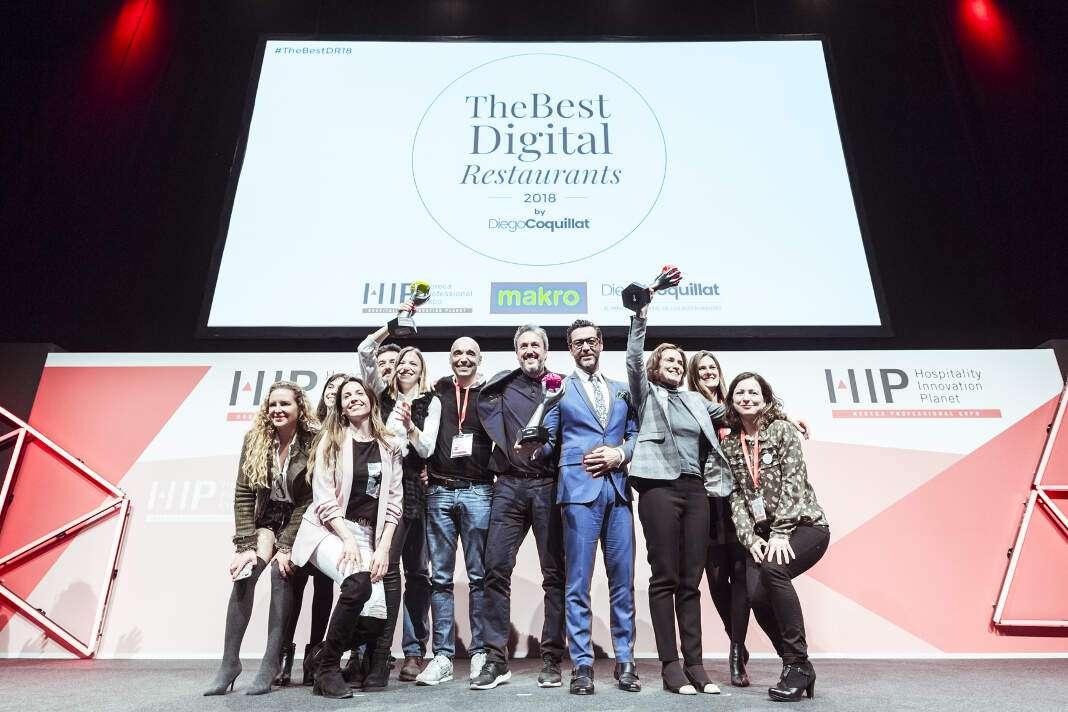 El certamen tuvo lugar dentro de Expohip. foto: '​The Best Digital Restaurants 2018' Mejor Restaurante Digital