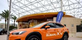 El coche ha estado expuesto toda la semana en las puertas del Club Diario de Ibiza. foto: sergio g. cañizares Subaru XV