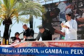 Óscar Molina, uno de los chefs sobre el escenario.