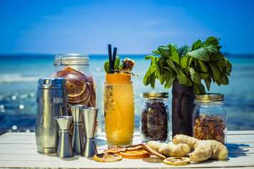 La coctelería de Malibu Beach Club es muy creativa.