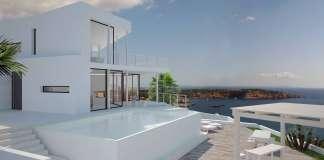 La villa (Ref. 6548) preside un maravilloso acantilado en la lujosa urbanización de Vista Alegre, Sant Josep. fotos:ibiza sotheby's international realty